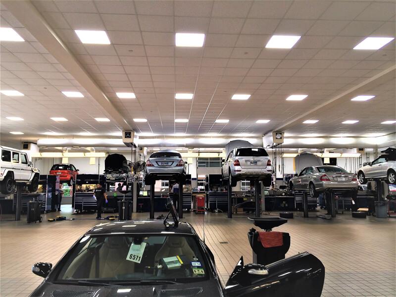Mercedes Building Parking Garage Led Retrofit