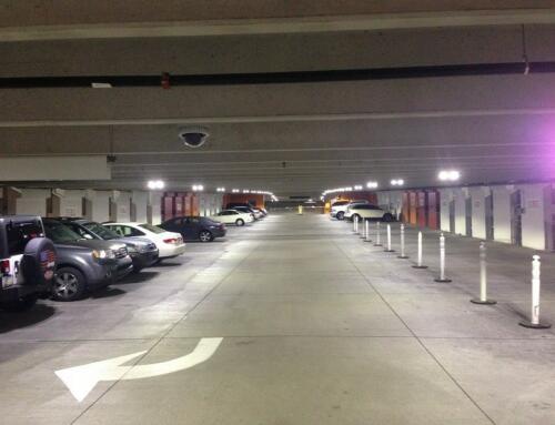 City Plaza Parking Garage LEDs